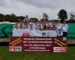 Glückselige Rheinische Faustball-Delegation nach der Deutschen- Jugendmeisterschaft der LTV